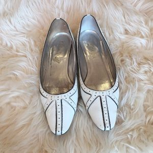 White Escada slip on mini pumps size 6.5